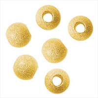 22K Gold Plated Stardust Sparkle 12mm Round Beads (Large Hole) (10)