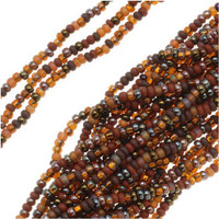 Czech Seed Beads 11/0 Chocolate Mud Pie (1 Hank)