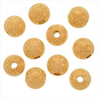 22K Gold Plated Stardust Sparkle Round Beads 10mm (25)