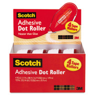Adhesive Dot Roller Value Pack, 0.3 in x 49 ft., 4/PK