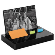 "Pop-up Note/Flag Dispenser Plus Photo Frame with 3 x 3 Pad, 50 1"" Flags, Black"