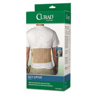"Back Support, Elastic, 33"" to 48"" Waist Size, 33w 48d x 10h, 6 Stays, Beige"
