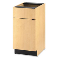 Hospitality Single Base Cabinet, Door/Drawer, 18w x 24d x 36h, Natural Maple