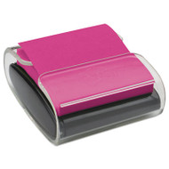 Pop-Up Notes Wrap Dispenser, 3 x 3, Black/Clear
