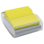 Pop-Up Notes Wrap Dispenser, 3 x 3, White/Clear