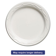 Aristocrat Plastic Plates, 6 Inches, White, Round, 125/Pack