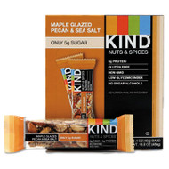 Nuts and Spices Bar, Maple Glazed Pecan and Sea Salt, 1.4 oz Bar, 12/Box