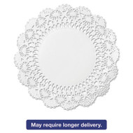 "Cambridge Lace Doilies, Round, 12"", White, 1000/Carton"