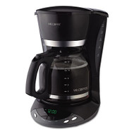 12-Cup Programmable Coffeemaker, Black