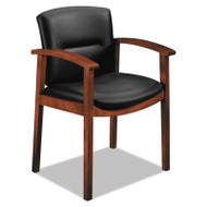 5000 Series Park Avenue Collection Guest Chair, Black Leather/Cognac