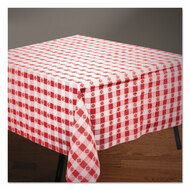 """Tissue/Poly Tablecovers, 54"""" x 108"""", Red/White Gingham"""