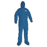 A20 Breathable Particle Protection Coveralls, Large, Blue, 24/Carton