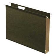 """Reinforced 1"""" Extra Capacity Hanging Folders, Letter, Standard Green, 25/Box"""