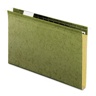 """Reinforced 1"""" Extra Capacity Hanging Folders, Legal, Standard Green, 25/Box"""