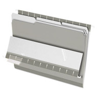 Interior File Folders, 1/3 Cut Top Tab, Letter, Gray, 100/Box