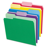 File Folders with Erasable Tabs, 1/3 Cut Top Tab, Letter, Assorted, 30/Pack