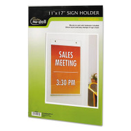 Clear Plastic Sign Holder, Wall Mount, 11 x 17