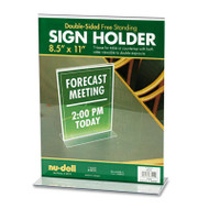 Acrylic Sign Holder, 8 1/2 x 11, Clear