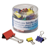 Binder Clips, Metal, Assorted Colors/Sizes, 30/Pack