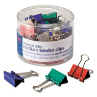 Binder Clips, Metal, Assorted Colors, Medium, 24/Pack