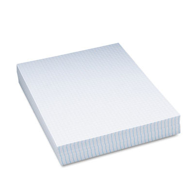"""Composition Paper, 1/4"""" Quadrille, 16 lbs., 8-1/2 x 11, White, 500 Sheets/Pack"""