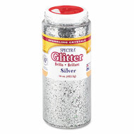 Spectra Glitter, .04 Hexagon Crystals, Silver, 16 oz Shaker-Top Jar