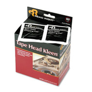 Tape Head Kleen Pad, Individually Sealed Pads, 5 x 5, 80/Box