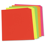 Neon Color Poster Board, 28 x 22, Green/Orange/Pink/Red/Yellow, 25/Carton