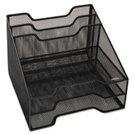 Combination Sorter, Five Sections, Mesh, 12 1/2 x 11 1/2 x 9 1/2, Black