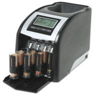 Fast Sort FS-44P Digital Coin Sorter, Pennies Through Quarters, Black/Silver