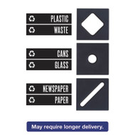 Public Square Recycling Containers Lid, 15 1/4 x 15 1/4 x 2, Black