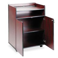 Executive Mobile Presentation Stand, 29-1/2w x 20-1/2d x 40-3/4h, Mahogany