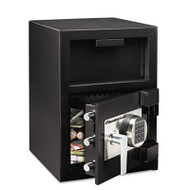Digital Depository Safe, Extra Large, 1.09 ft3, 14w x 15 3/5d x 24h, Black