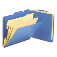 "2-1/2"" Expansion Heavy-Duty Poly Classification Folders, Letter, Blue, 10/Box"