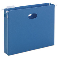 "2"" Capacity Closed Side Flexible Hanging File Pockets, Letter, Sky Blue, 25/Box"