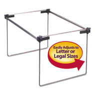 "Hanging Folder Frame, Letter/Legal Size, 12-24"" Long, Steel, 2/Box"