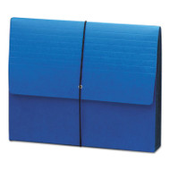 """Extra-Wide 5 1/4"""" Exp Wallets, 12 3/8 x 10, Navy Blue"""