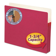 "1 3/4"" Exp Colored File Pocket, Straight Tab, Letter, Red"