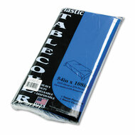 Table Set Rectangular Table Cover, Heavyweight Plastic, 54 x 108, Blue, 6/Pack