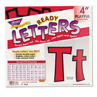 """Ready Letters Playful Combo Set, Red, 4""""h, 216/Set"""