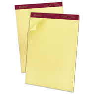 Gold Fibre Canary Quadrille Pad, 8 1/2 x 11 3/4, Canary, 50 Sheets