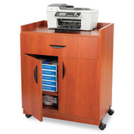 Mobile Laminate Machine Stand w/Pullout Drawer, 30w x 20-1/2d x 36-1/4h, Cherry
