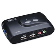 2-Port Compact USB KVM Switch w/Audio and Cable