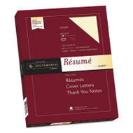 100% Cotton Resume Paper, Ivory, 24lb, 8 1/2 x 11, Wove, 100 Sheets