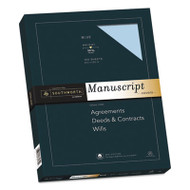25% Cotton Manuscript Covers, Blue, 30lb, Wove, 9 x 12 1/2, 100 Sheets