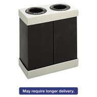At-Your-Disposal Recycling Center, Polyethylene, Two 28gal Bins, Black