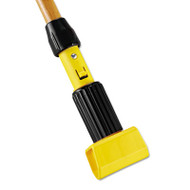 Gripper Hardwood Mop Handle, 1 1/8 dia x 60, Natural/Yellow