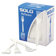 Boxed Reliance Mediumweight Cutlery, Fork, White, 1000/Carton