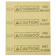 """Over-the-Spill Pad, """"Caution Wet Floor"""", Yellow, 16 1/2"""" x 20"""", 25 Sheets/Pad"""
