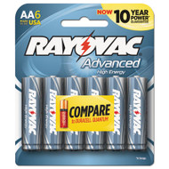 Alkaline High Energy Batteries, AA, 6/Pk
